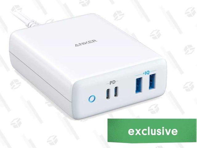 एंकर का 100W 4-पोर्ट चार्जिंग स्टेशन केवल $ 69 है, और समान समय पर दो मैकबुक चार्ज करता है [विशेष]