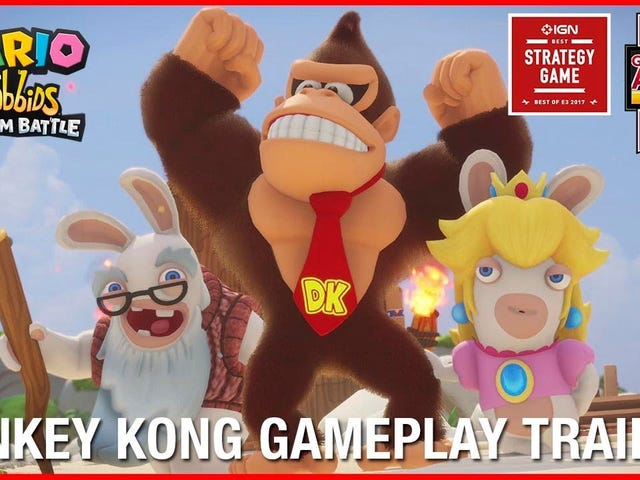 The upcoming Donkey Kong DLC for Mario + Rabbids looks like a ton of fun. DK has some cool abilities, like throwing cover. Looks…