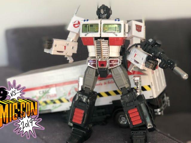 Dette Optimus Prime Ghostbusters legetøj er for meget sjovt