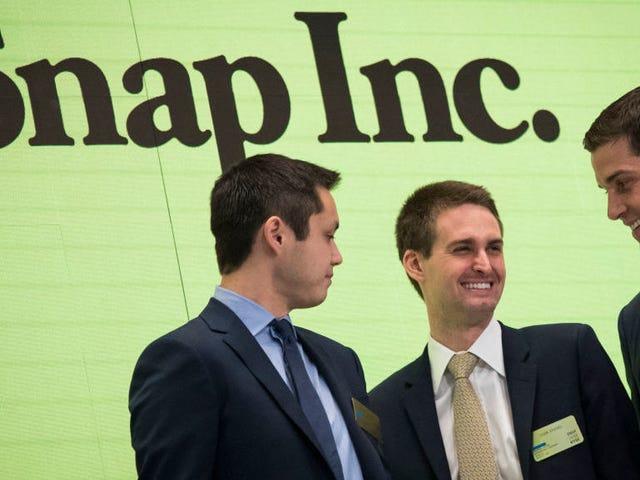 Der bestbezahlte CEO des Landes hat sich entschieden, Snapchat ganz alleine zu ficken