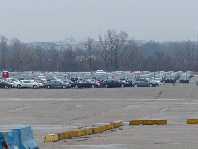Volkswagen ha stashed centinaia di Diesels Cheating In un parcheggio abbandonato stadio NFL