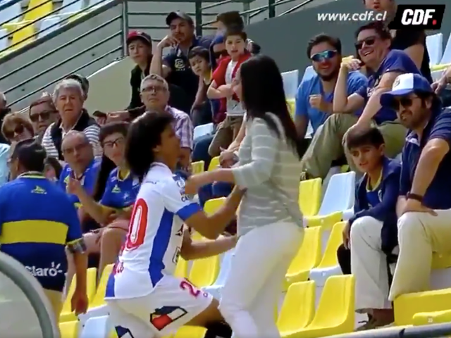 Soccer Guy Gets Yellow Card For Celebrating Goal By Proposing To His Girlfriend
