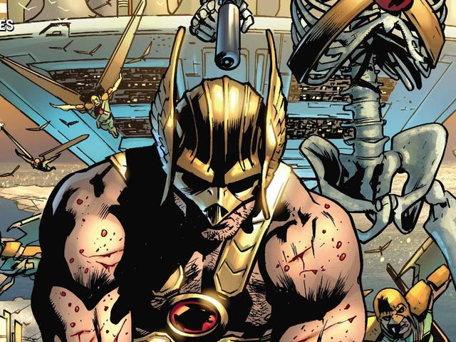 Hawkman faces off against his past self in this exclusive preview
