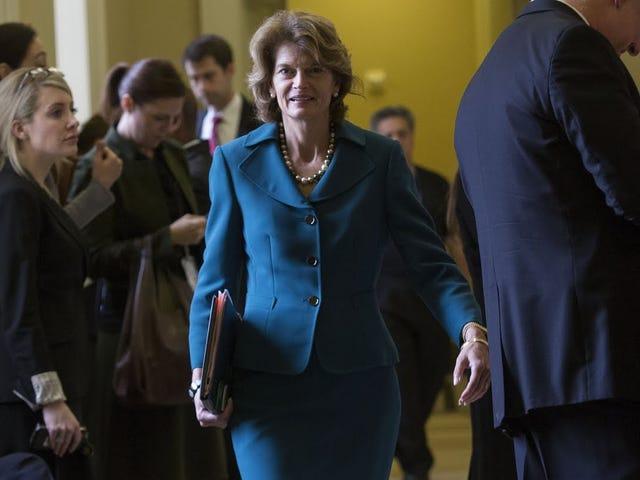¿Adivina quién apareció para trabajar en el Senado después de la tormenta de nieve?  Un grupo de mujeres