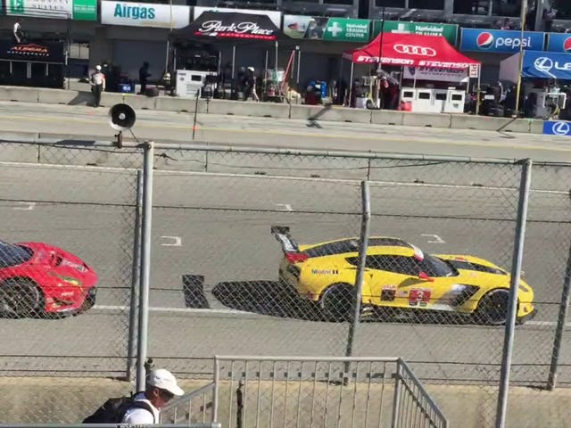 I'm working as fire crew for the IMSA race at Laguna Seca this weekend