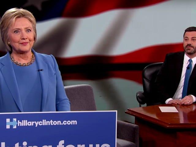 Jimmy Kimmel Explains Mansplaining to Hillary Clinton