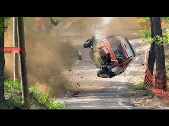 Sometimes rally drivers live on the edge...