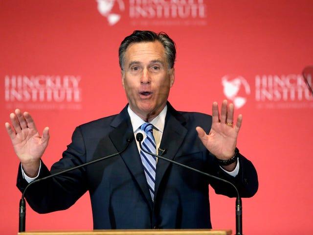 """Mitt Romney bussa fuori dal parco con la battuta riciclata sulle mogli """"straniere"""" di Trump"""