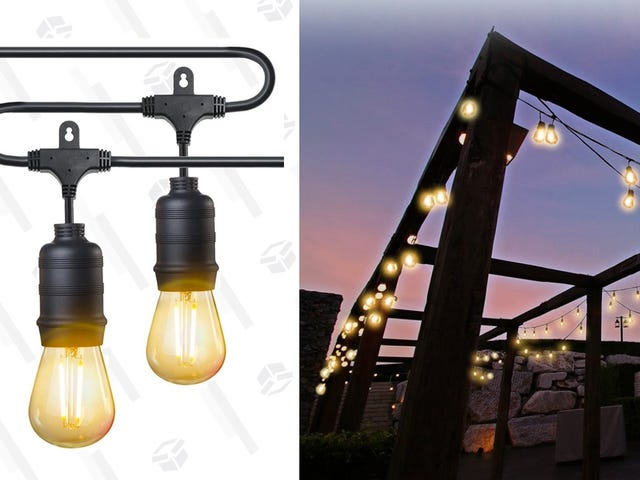 String Up Weatherproof Lights In Your Backyard For Only $44