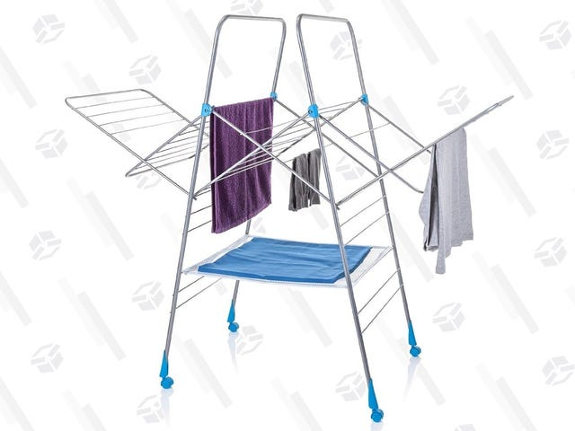 Be Nicer to Your Clothes With This Spacious, $18 Folding Drying Rack