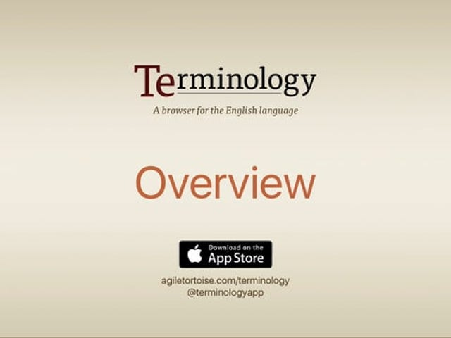 Terminology for iPhone Goes Free, Refreshes Its Interface, and Adds a Notes Option