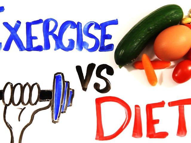 在一个视频中,为什么饮食比减肥更重要