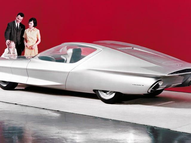 ここではGMが1964年にステアリングホイールやペダルがない車をどうやって作ったのですか?これはFirebird IVのコンセプトです。  (それは飛行機スタイルだった...