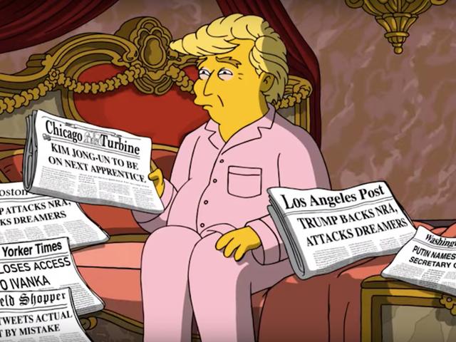 El nuevo capítulo de <i>Los Simpson</i> presenta lo imposible: un Donald Trump que cuestiona sus decisiones