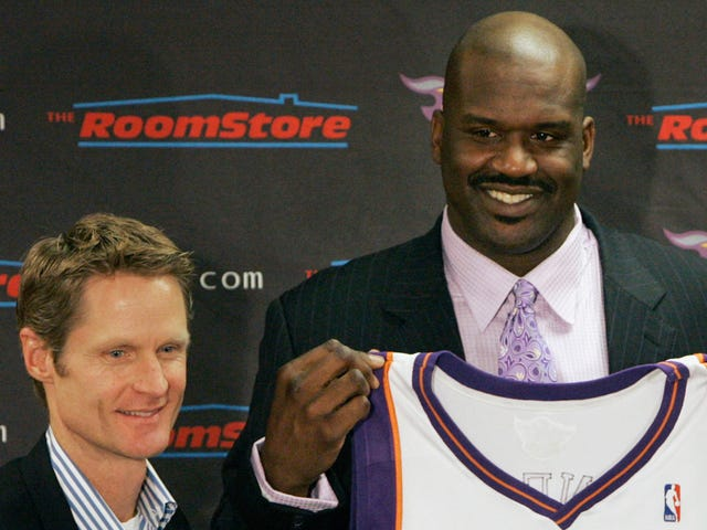 Steve Kerr Tentatively Reminds Shaq Of Obligation To Kiss Kerr's Cheese-Covered Feet
