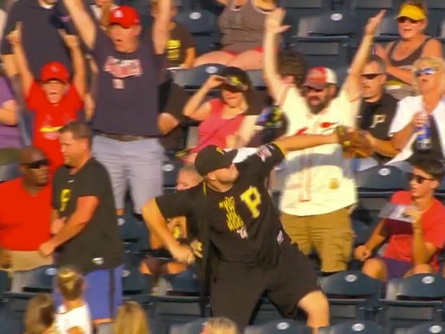 Pirates Fan Tosses Cardinals Home Run Ball Into The Goddamn River Where It Belongs