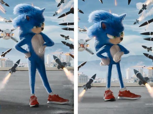 Исполнитель исправляет живого действия Sonic The Hedgehog
