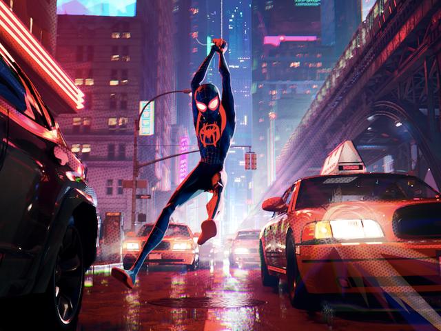 Las dimensiones de los superhéroes chocan en un dibujo animado de <i>Spider-Man</i> gracioso y psicodélico.