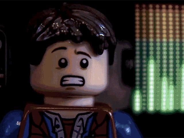 Ang eksena ng orasan ng orasan ng BTTF ay ganap na likha ng Lego