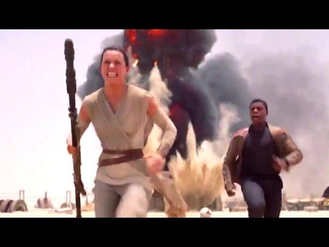 Rey och Finn Gå på köra i första klippet från Star Wars: The Force Awakens