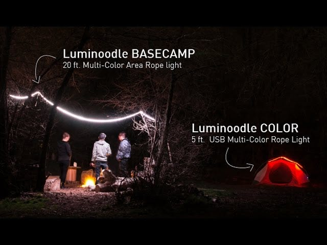 Save 20% On Luminoodle Lights For Your Home, Your Campsite, and Anything In Between