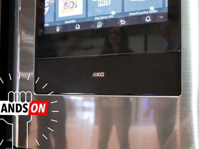 Samsung Put a Big AKG Speaker Into a Refrigerator and It's Oddly Awesome