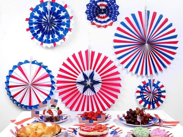 JOYSEAS 6PCS Paper Fans Hanging Decorations Veterans Day $4.99