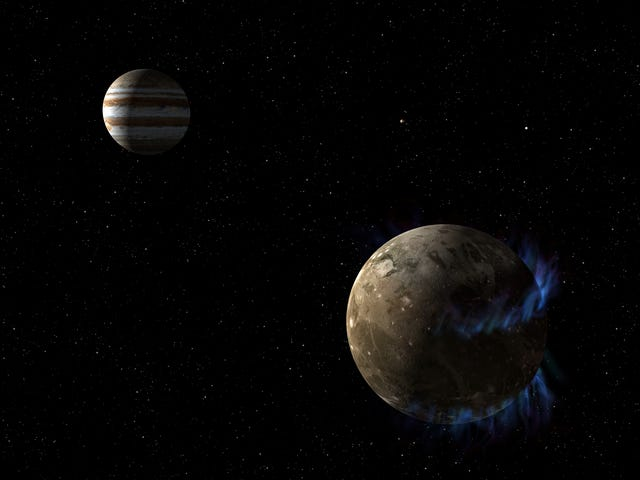 Jupiter's Moon Ganymede Generates Incredible Magnetic Waves