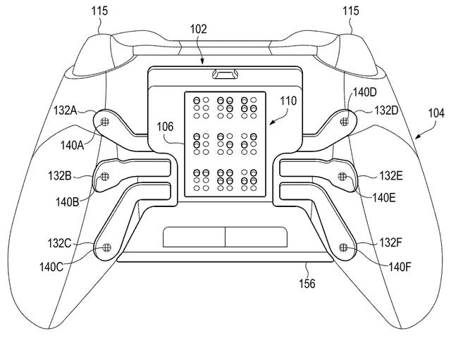 Microsoft Patent Imagines an Xbox Controller Customized for Gamers With Visual Impairment