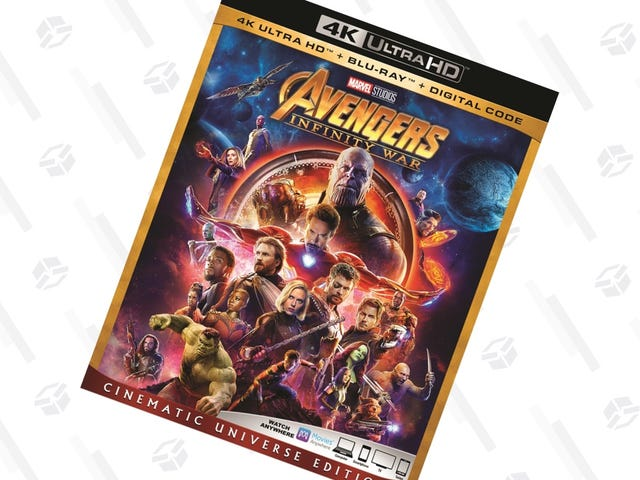 Video Formats: Assemble. Get Infinity War In 4K, Blu-ray, and Digital For $25.