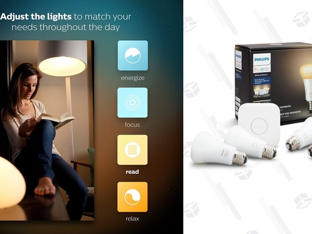 Start Your Philips Hue Collection With Four Temperature-Shifting Bulbs