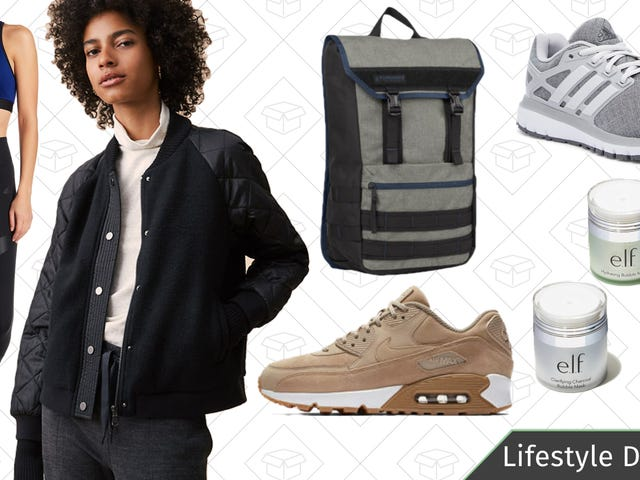Friday's Best Lifestyle Deals: Nike, Timbuk2, e.l.f. Cosmetics, Adidas, and More