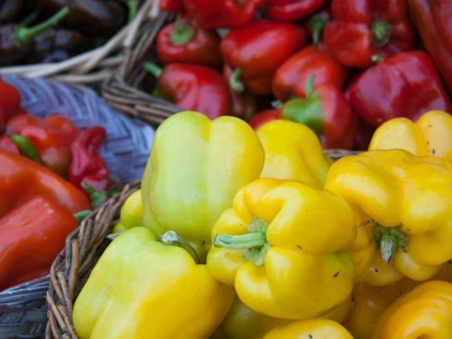 Peel Bell Peppers para textura suave e sedosa sem torrefação