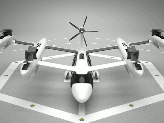 Uber's New Aerial Taxi Concept lijkt op de vurengans van vliegende auto's