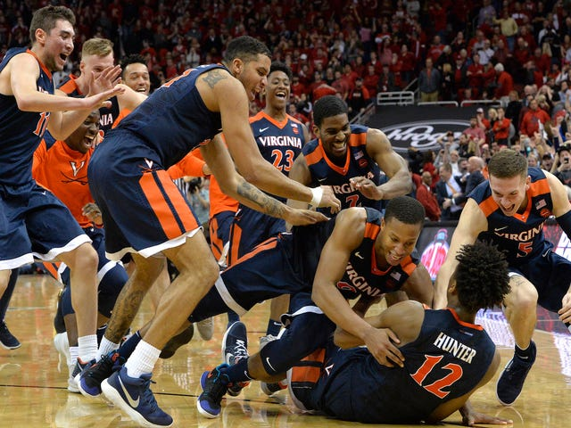 Virginia Finishes Utterly Insane Final Second With Buzzer-Beating Three For Win Over Louisville