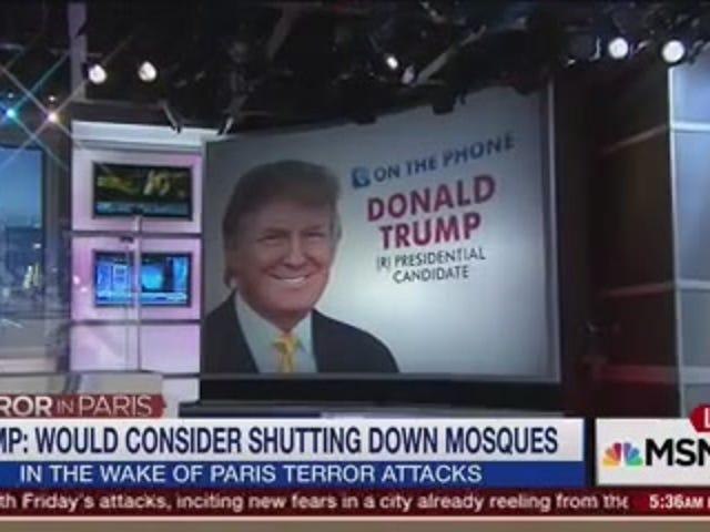 डोनाल्ड ट्रम्प अमेरिका की मस्जिदों की निगरानी (और संभावित रूप से शट डाउन) करना चाहता है
