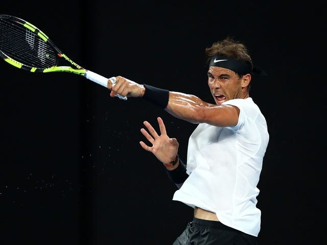 Now It's Just Rafael Nadal And A Bunch Of Gorgeous One-Handers