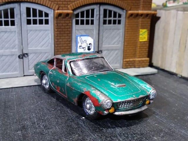 Care-worn custom Ferrari