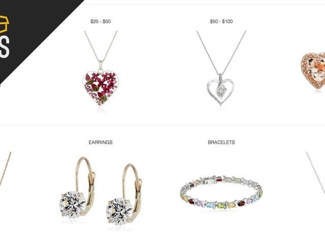 Amazon's Offering Big Savings and Free One-Day Shipping On Select Jewelry, Today Only