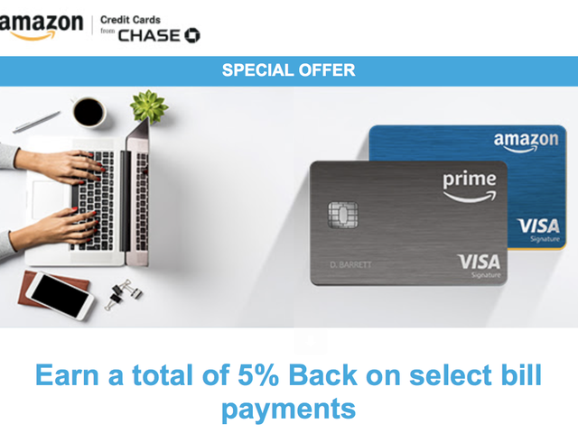 Earn 5% Back On Monthly Bills With Your Amazon Visa, Until April 15