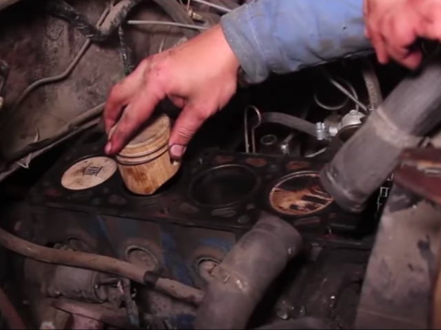 Here's What Happened When A Guy Used Wooden Pistons In His Engine