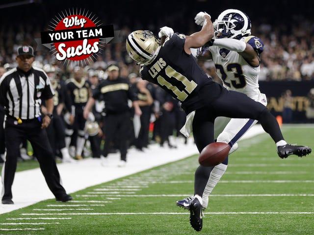 Por qué su equipo apesta 2019: New Orleans Saints