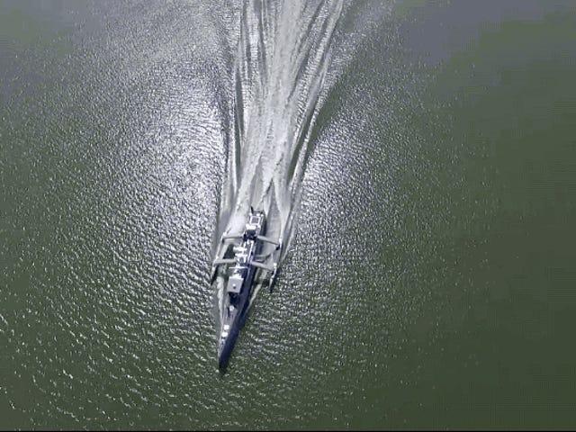 Somis Sea Sea Hunter, un destructor de submarinos completamente autónomo av DARPA