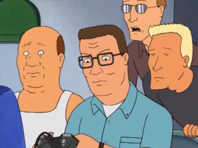 처음이자 유일한 <i>King Of The Hill</i> 비디오 게임은 19 년 전부터 나왔다. 그리고 그것은 지루하다.
