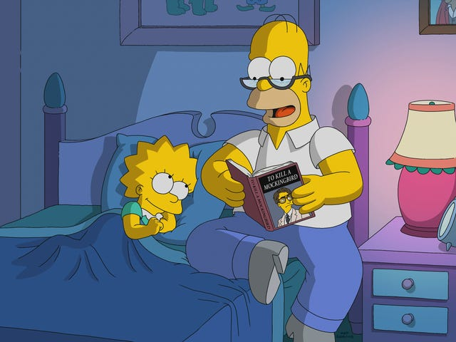 Homer is Lisa's Atticus Finch in a sweet but unsatisfying Simpsons
