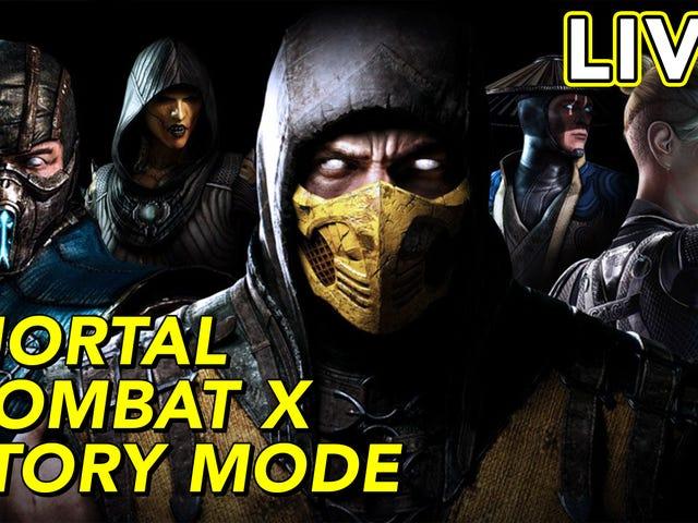 Saya menghidupkan mod cerita liar Mortal Kombat XL di halaman Twitch kami.  Serius, kalau awak dah hav