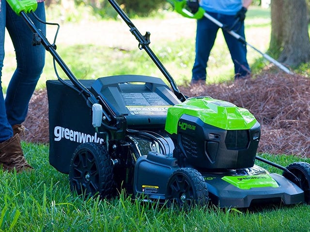 Upgrade To A Cordless Electric Lawn Mower For $125 Off