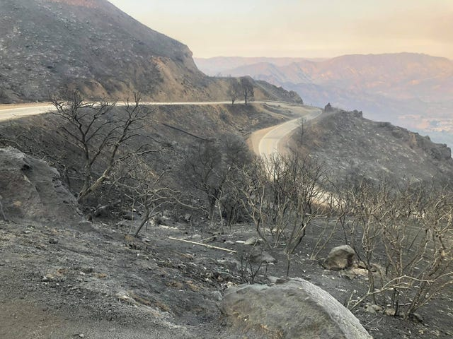 My commute before and after the Woolsey fire