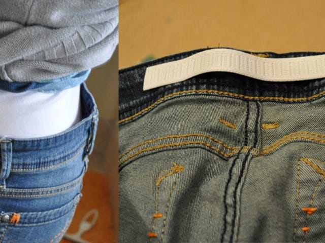 Get Rid of the Gap in Your Jeans With a Small, Elastic Strip