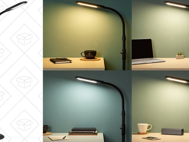 This Floor Lamp Is Dimmable, Temperature-Adjustable, and Doesn't Need a Bulb